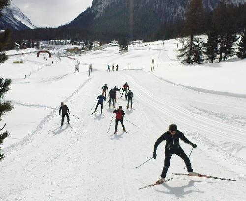 Løyper mellom St.Moritz og Pontresina